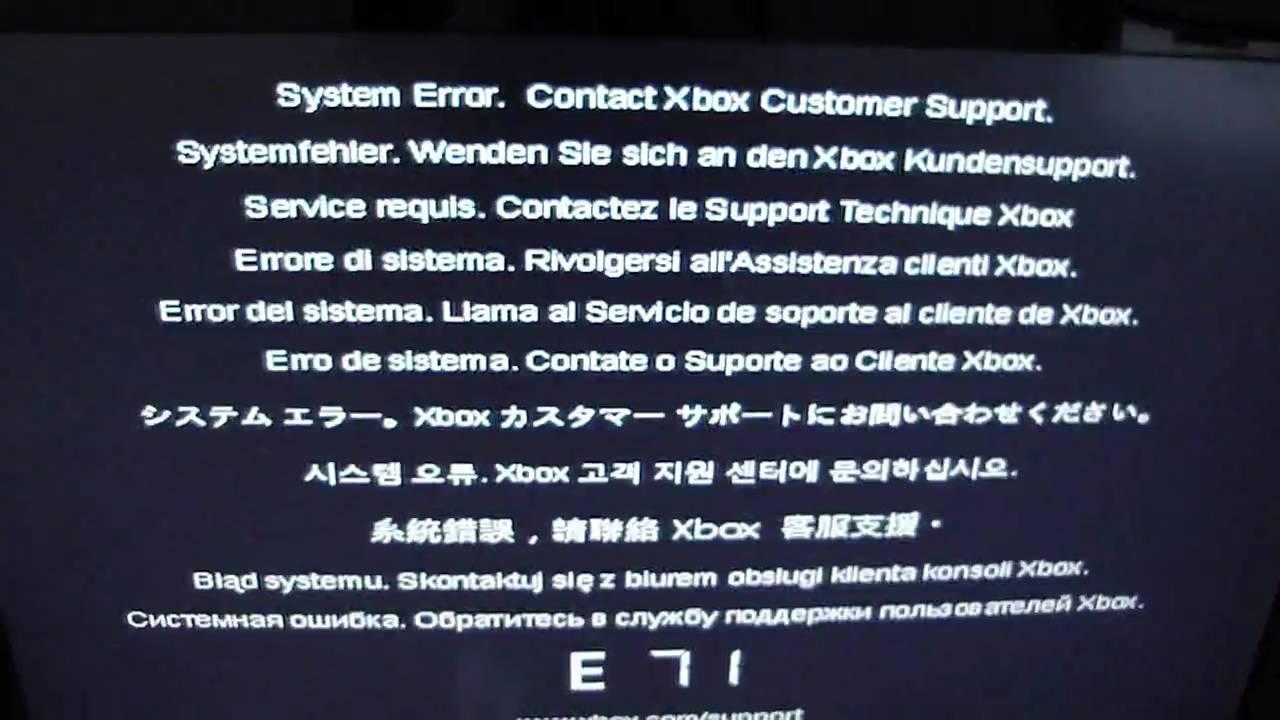 Solved - System Error E 71 RGH/JTAG | Se7enSins Gaming Community